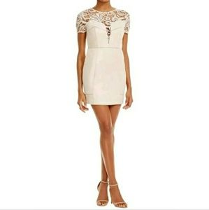 JOA Beige Faux Suede Dress